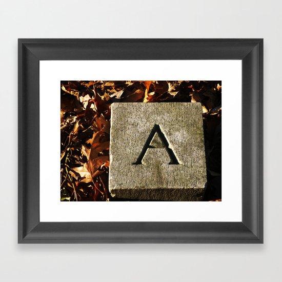 A Death Framed Art Print