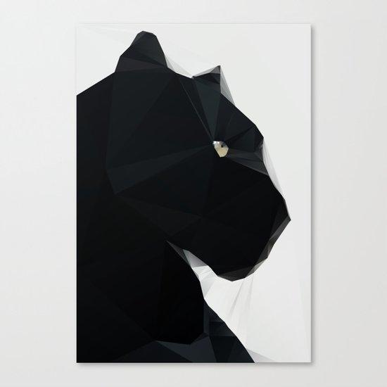 Black Geo Cat 02 Canvas Print