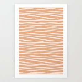 Zebra Print - Toffee Caramel Art Print