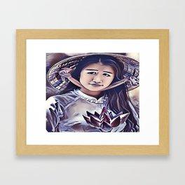 Cambodian Lotus Framed Art Print