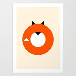 A Most Minimalist Fox Art Print