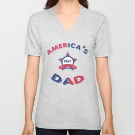 America's No1 Dad - Father's Day Unisex V-Neck