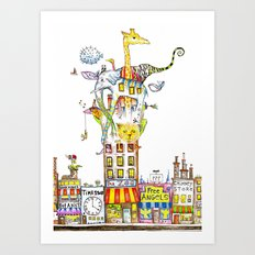 Odd Neighborhood (color) Art Print