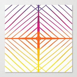 Sunset Gradient Lines Canvas Print