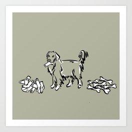 Bone Boycott | Green Tan Art Print