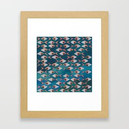 School of Fish Pattern Framed Art Print