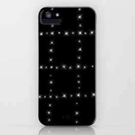 Black and White - Stars in Squares iPhone Case