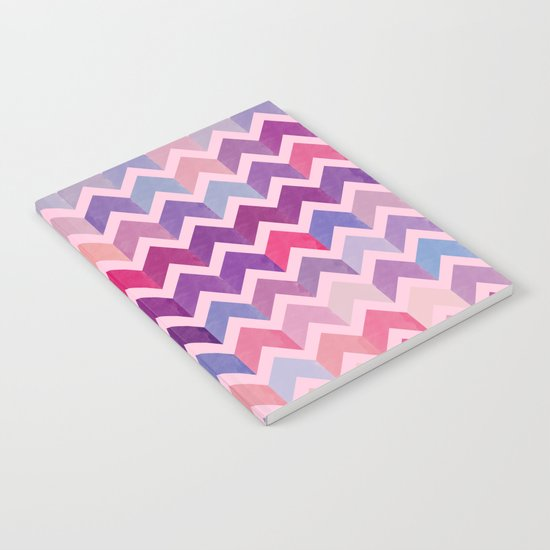 Watercolor Chevron Pattern II Notebook