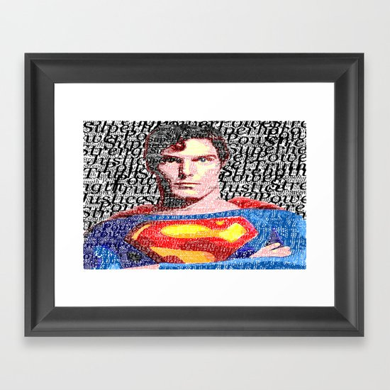 Superman Man of Tomorrow Framed Art Print