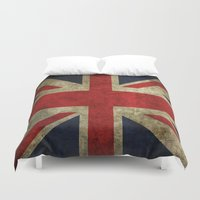union jack Duvet Covers featuring Union Jack by Bethan Eastwood