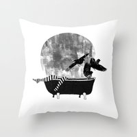 legs Throw Pillows featuring legs by Cardula