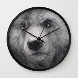 Bear Charcoal Wall Clock