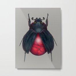 Red Jasper Beetle Metal Print