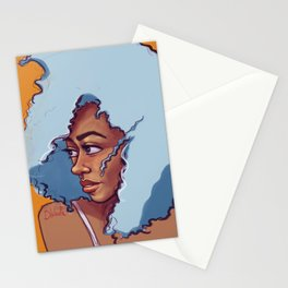 Blue Haired Bombshell Stationery Cards