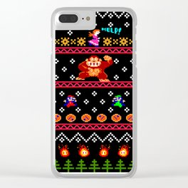 Donkey Kong Ugly Sweater Clear iPhone Case
