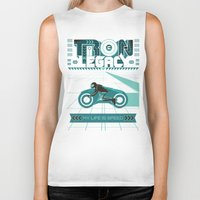 tron Biker Tanks featuring Tron Legacy by HomePosters