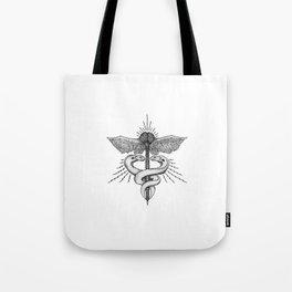 Neuroelectric Caduceus Tote Bag