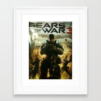 gears of war Framed Art Prints featuring GEARS OF WAR by _C.B.Cs