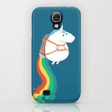 Fat Unicorn on Rainbow Jetpack Galaxy S4 Slim Case
