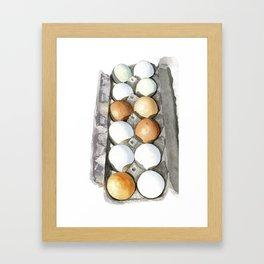 Eggs in carton Framed Art Print