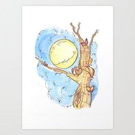 Full Moon Life Art Print