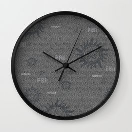Dean and Sam Aliases Wall Clock