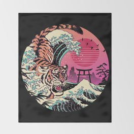 Rad Tiger Wave Throw Blanket