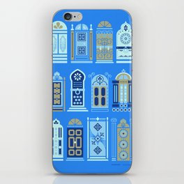 Moroccan Doors – Cornflower Blue Palette iPhone Skin