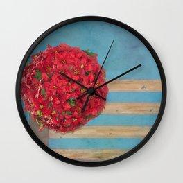 fleur Wall Clock
