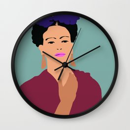 Frida Khalo Flat Graphic Modern Wall Clock