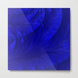Renaissance Blue Metal Print