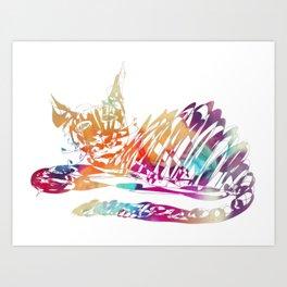 Cat Bonny Art Print