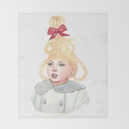 Cindy Lou Who Throw Blanket