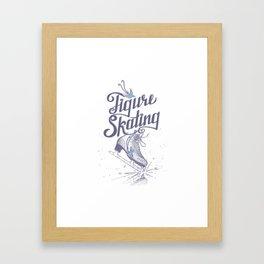 Figure skating Framed Art Print