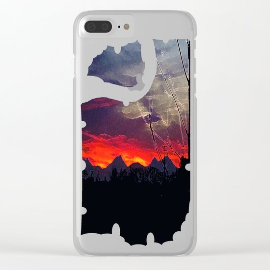 Darkness Ascending Clear iPhone Case