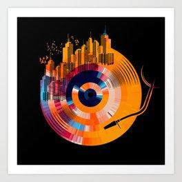 city music  Kunstdrucke