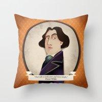 oscar wilde Throw Pillows featuring Oscar Wilde said... by Mrs Peggotty