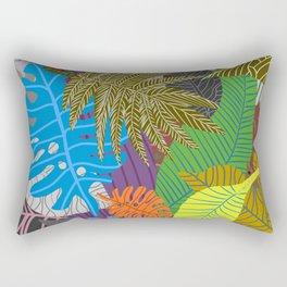 Rainbow Dancing Leaves Rectangular Pillow