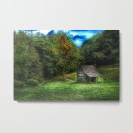 Cabin on the Parkway Metal Print