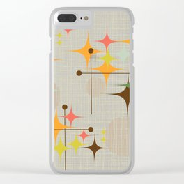 Mid Century Modern Starbursts and Globes 3a Clear iPhone Case