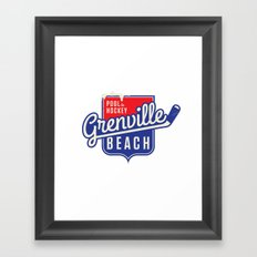Pool de Hockey Grenville Beach Framed Art Print