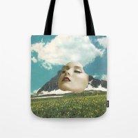 rushmore Tote Bags featuring Mount Rushmore by Jordan Clark