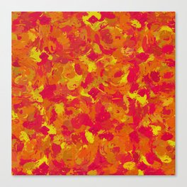 Red, Orange and Yellow Splatters 7368 Canvas Print