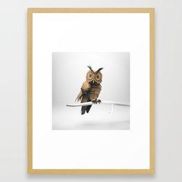 The Paper Fox : Owl Framed Art Print