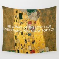 lorde Wall Tapestries featuring Love Club Kiss by Lorde Art History