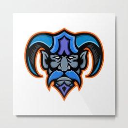 Hades Greek God Head Mascot Metal Print
