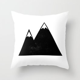 Minimalist Mountains Throw Pillow