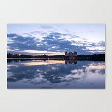 Fairy tale Castle - Fairytale Landscape Lake reflection blue hour on #Society6 Canvas Print