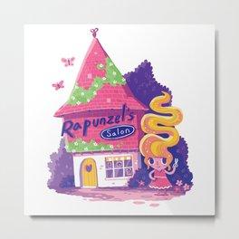 Rapunzel's Hair Salon Metal Print