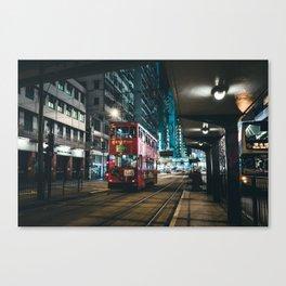 Late Night Tram Ride Canvas Print